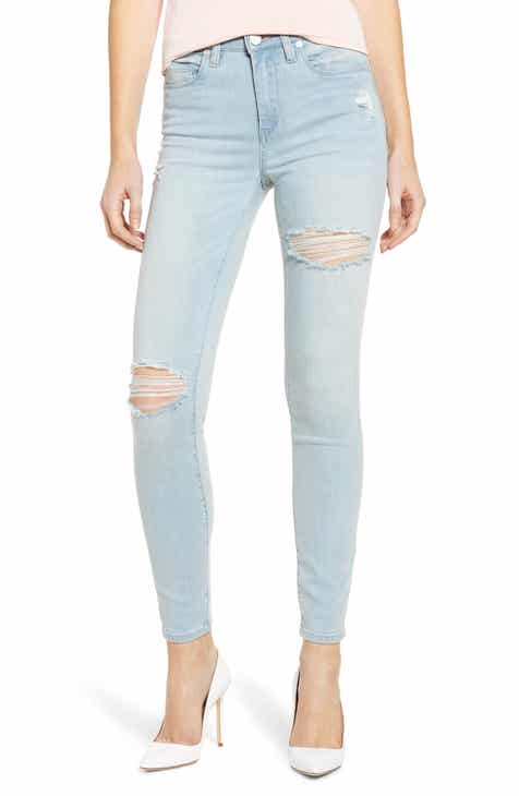 8553f2f9250e BLANKNYC The Bond Ripped Skinny Jeans (Big Baby Blue)