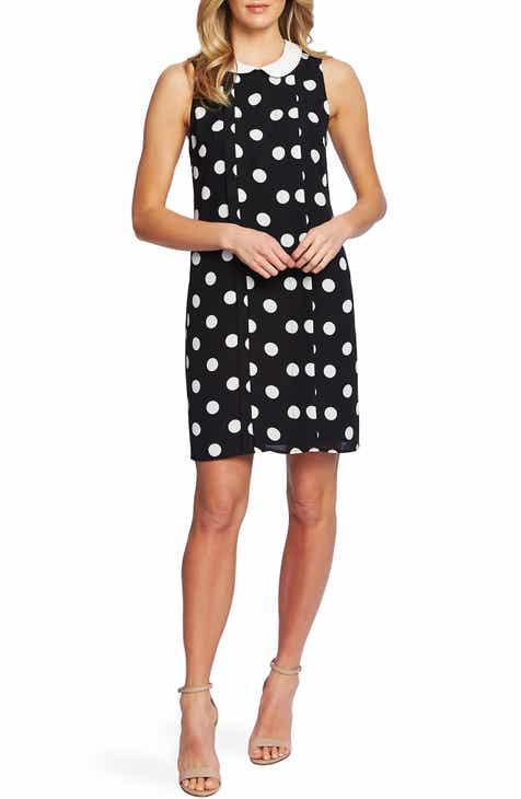 CeCe Dappled Dot Sleeveless Dress