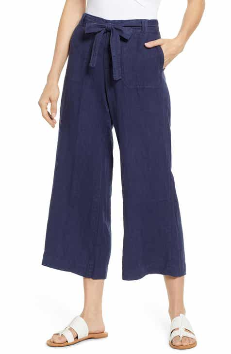 a38371aae97 Caslon® Wide Leg Crop Linen Pants (Regular & Petite)