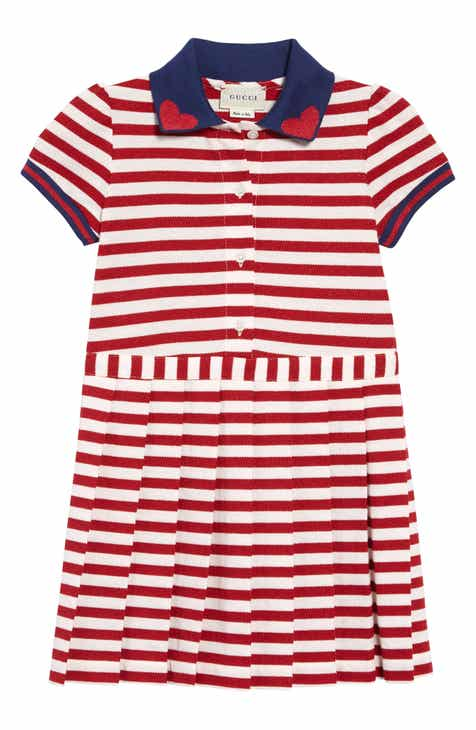 3bded0af1ca Gucci Metallic Stripe Polo Dress (Little Girls   Big Girls)