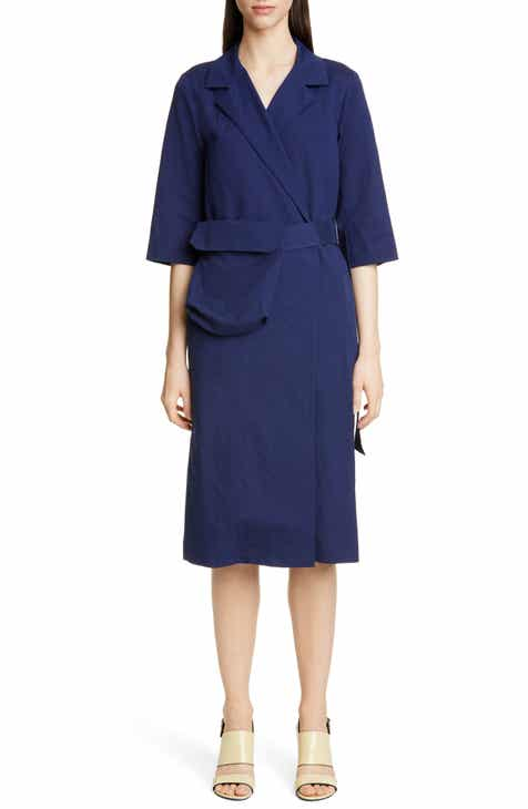 Dries Van Noten Duval Cotton Blend Wrap Dress