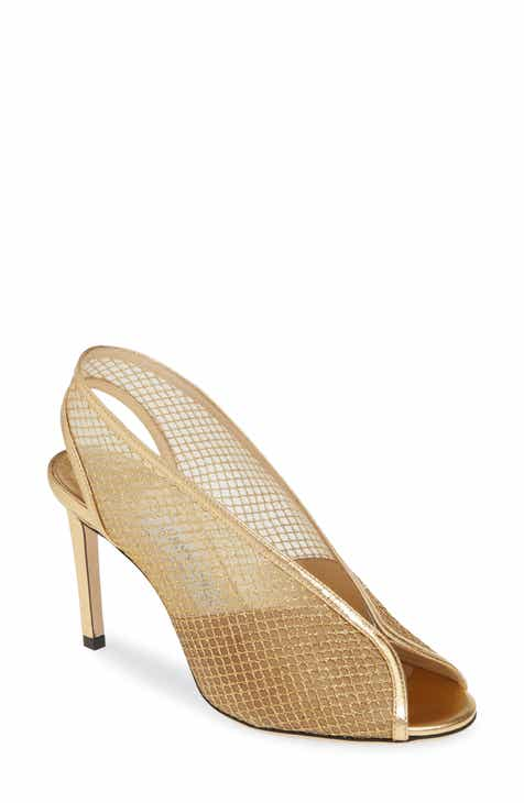 3a9f39905646 Jimmy Choo Shar Metallic Mesh Sandal (Women).  850.00. Product Image. BLACK  SUEDE