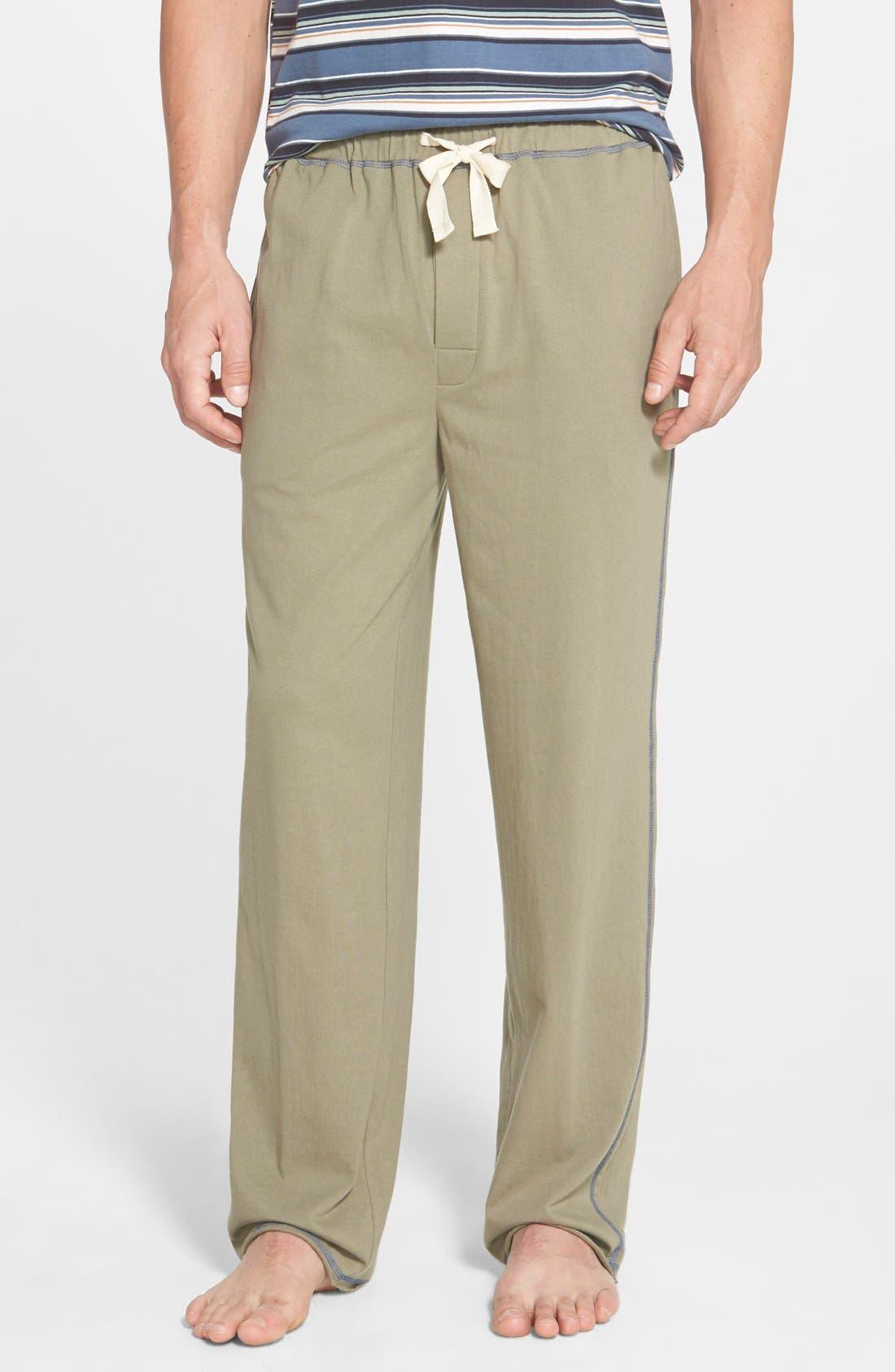 'Greenhouse' Cotton Lounge Pants,                         Main,                         color, Kelp