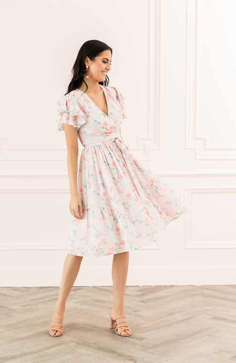 9c88b7e1fdae7 Rachell Parcell Tiered Ruffle Sleeve Dress (Nordstrom Exclusive)