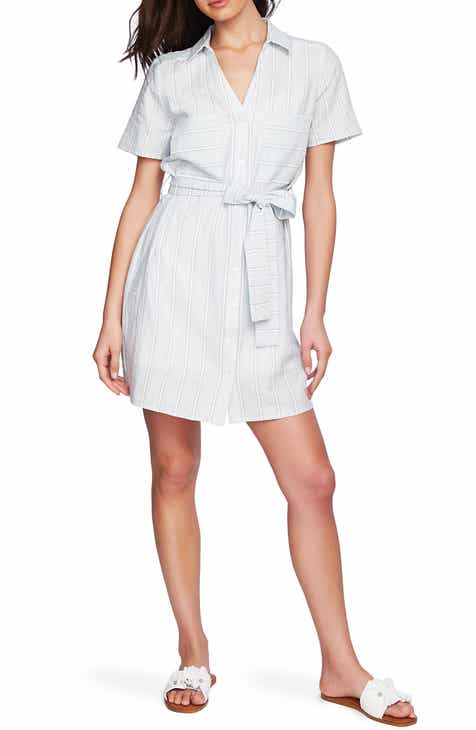 43129d1032c STATE Sunwashed Stripe Patch Pocket Shirtdress
