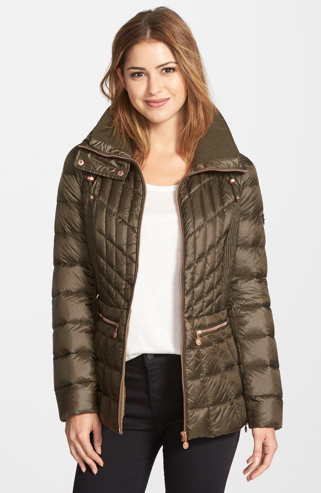 Alternate Image 1 Selected - Bernardo Packable Jacket with Down & PrimaLoft® Fill (Regular & Petite)