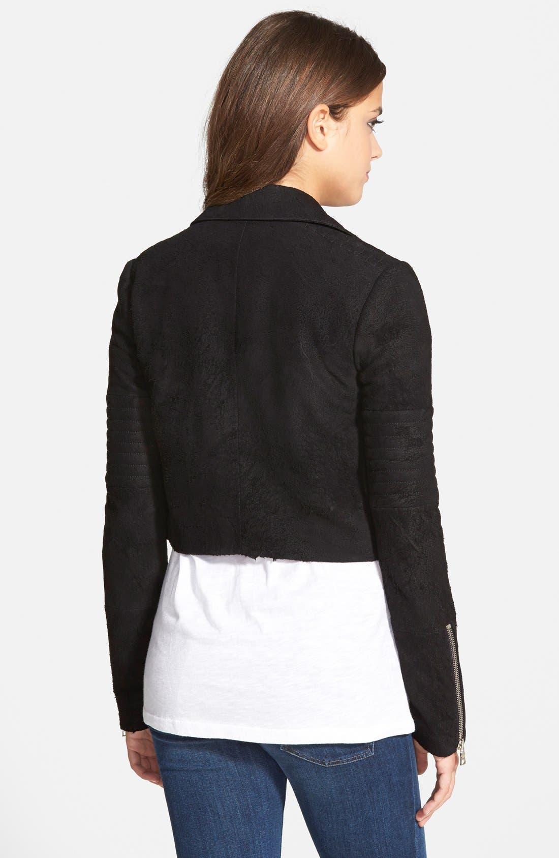 Alternate Image 2  - J Brand Ready-To-Wear 'Aiah' Lambskin Suede Moto Jacket (Nordstrom Exclusive)