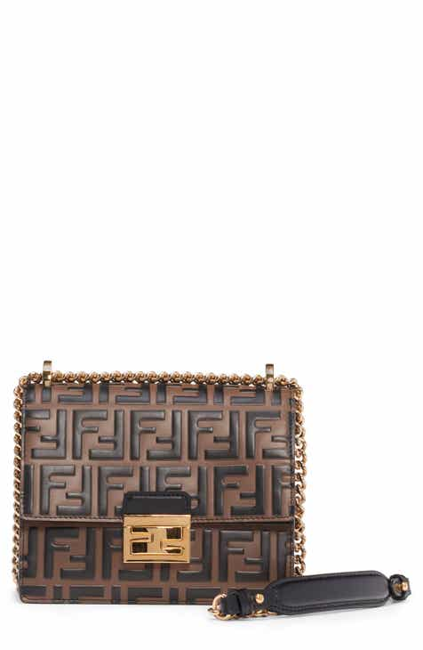 f1e7997fcad2 Fendi Small Kan I Logo Leather Shoulder Bag