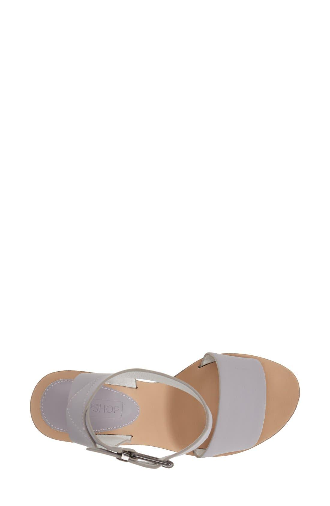 Alternate Image 3  - Topshop 'Waffle' Platform Wedge Sandal (Women)