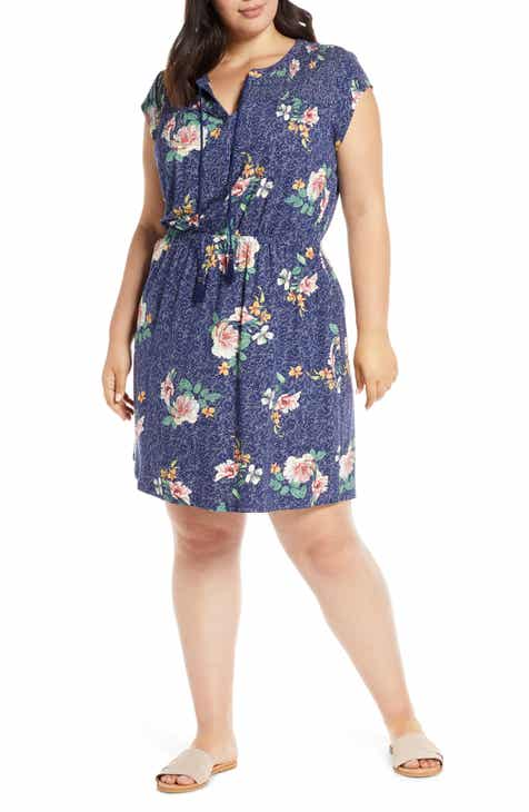 bfd2cdfe0f77 Daniel Rainn Floral Print Smocked Yoke Dress (Plus Size)