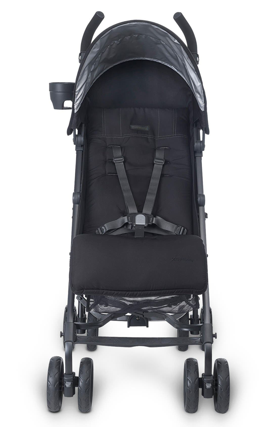 G-LUXE - Black Frame Reclining Umbrella Stroller,                             Alternate thumbnail 4, color,                             Jake Black/ Carbon