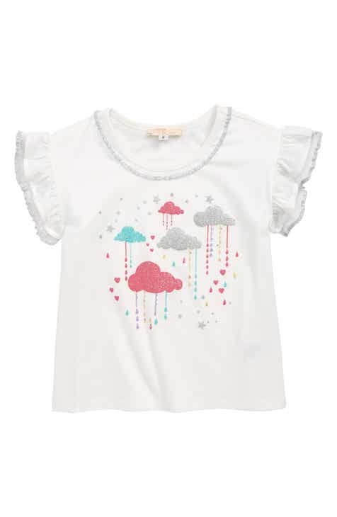 9ad16c0c5a29 Truly Me Rainy Clouds Embellished Tee (Toddler Girls   Little Girls)