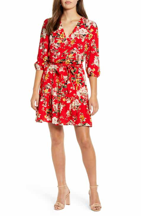 c8c1a08868b Gibson x The Motherchic Paloma Woven Wrap Dress (Regular   Petite)