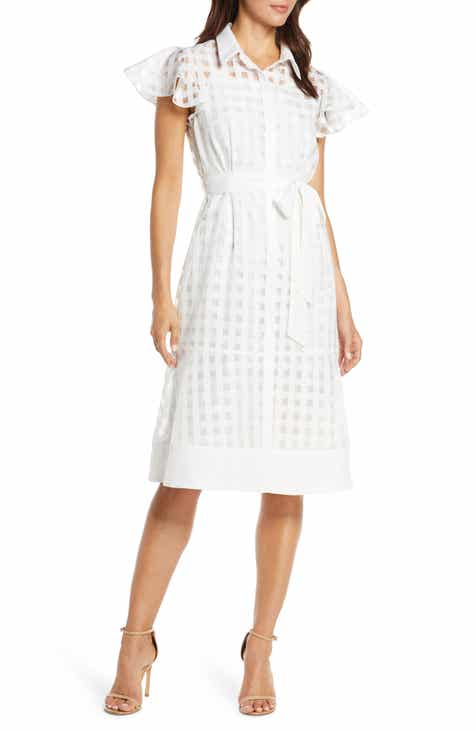 Julia Jordan Ruffle Sleeve Shirtdress