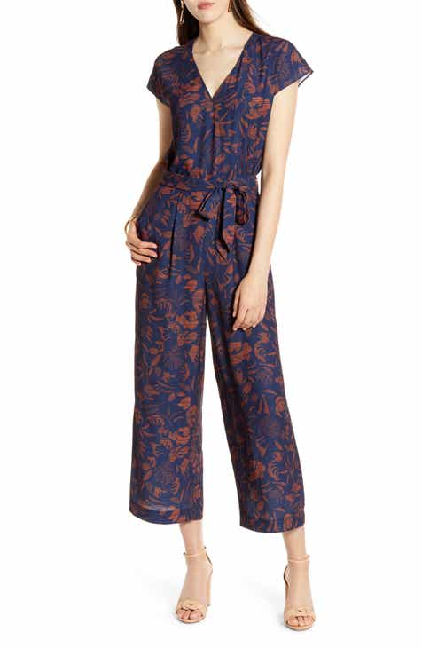 5c926ca6756 Halogen® Front Wrap Cropped Jumpsuit (Regular   Petite)