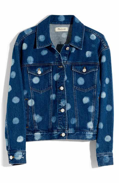Madewell Polka Dot Boxy Crop Jean Jacket by MADEWELL