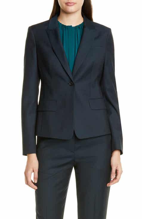 e4b53941 BOSS Jibalena Microcheck Wool Suit Jacket (Regular & Petite)
