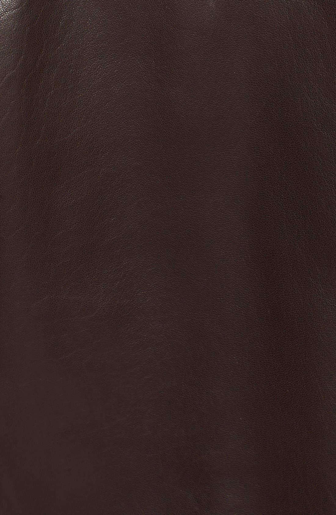 Lambskin Leather Jacket,                             Alternate thumbnail 3, color,                             Java