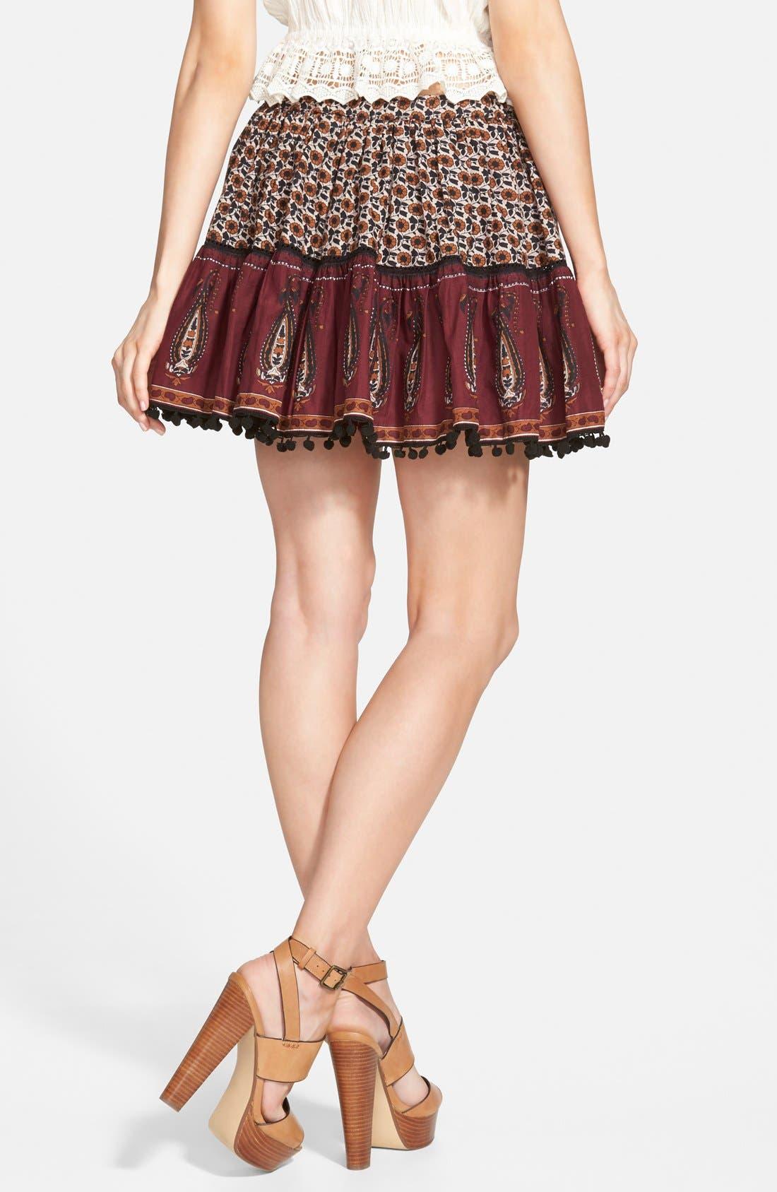 Alternate Image 2  - Band of Gypsies Mix Print Skirt