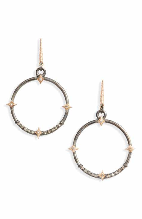 7c6c264ba Armenta New World Diamond Hoop Drop Earrings. $690.00. Product Image