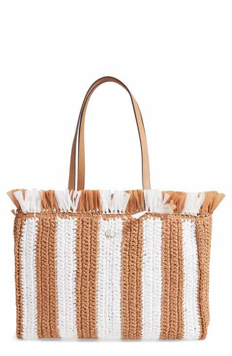4e4cda111032 kate spade new york large sam stripe straw tote