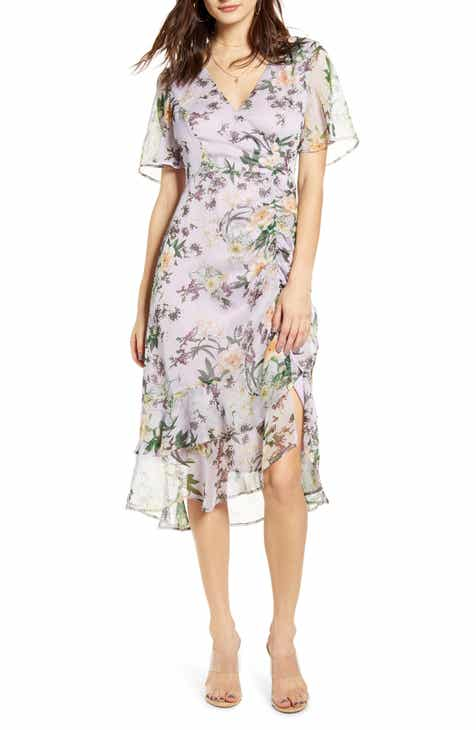d2cfa592d ASTR the Label Floral Ruched Front Dress