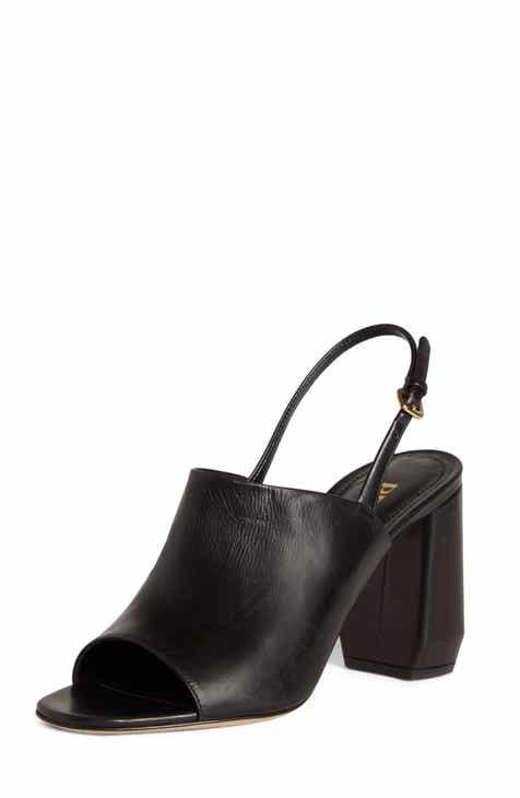 be02678d7fe1 Prada Shield Slingback Sandal (Women)
