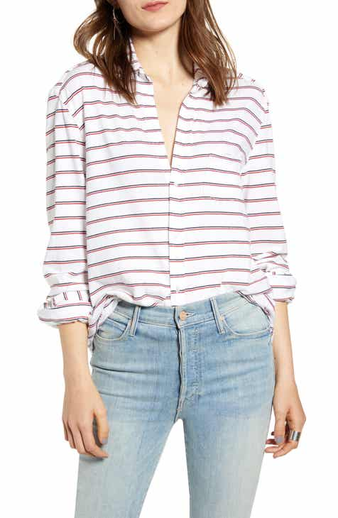 Frank & Eileen Tee Lab Stripe Knit Button Down Shirt