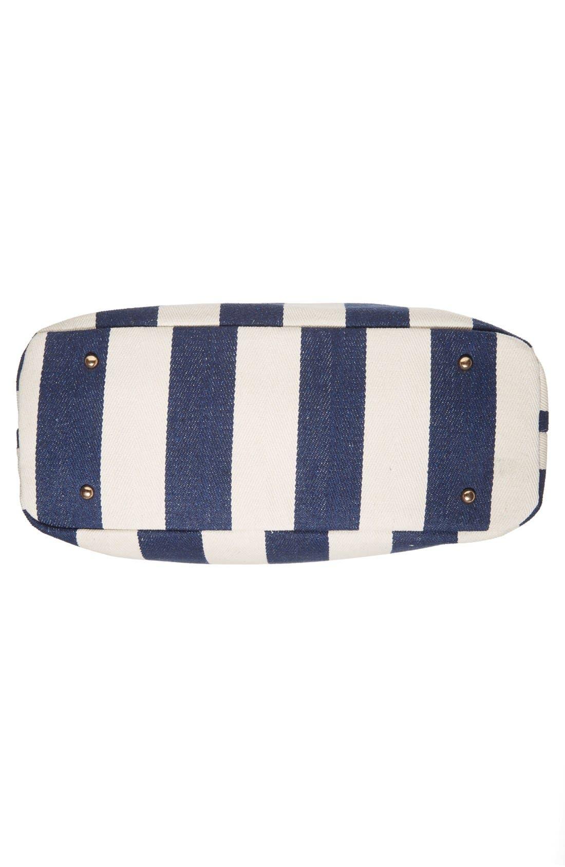 Alternate Image 6  - Sole Society 'Oversize Millie' Stripe Print Tote