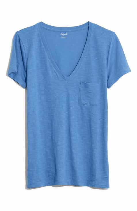 9b01eeea Madewell Whisper Cotton V-Neck Pocket Tee (Regular & Plus Size)