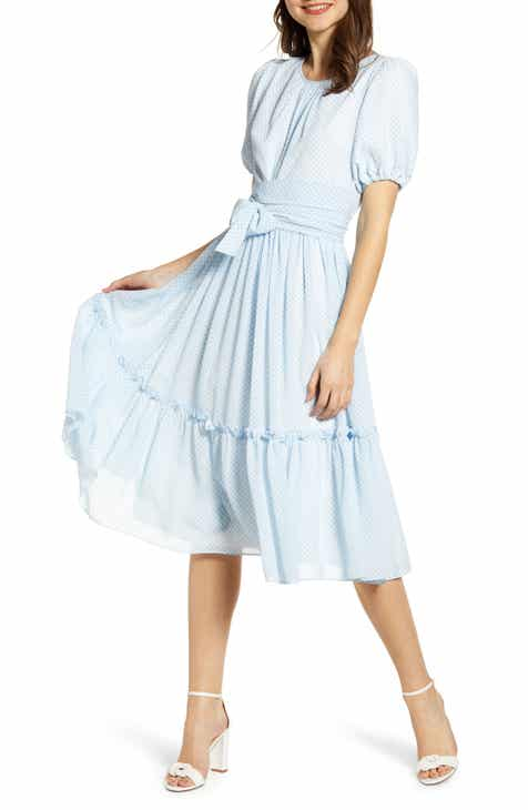 d34447d8701 Rachel Parcell Gingham Puff Sleeve Dress (Nordstrom Exclusive)