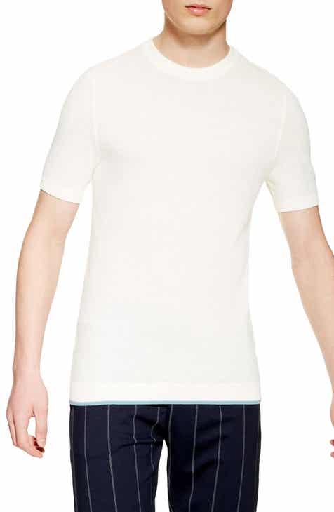 5830ba7cb6 Topman Piqué Knit Sweater T-Shirt