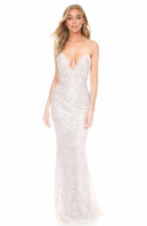 9637e1d0110 Noel and Jean by Katie May My Lady Embroidered Illusion Strapless Wedding  Dress