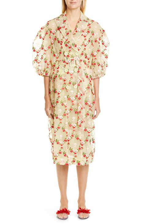 Simone Rocha Double Breasted Floral Tulle Coat by SIMONE ROCHA