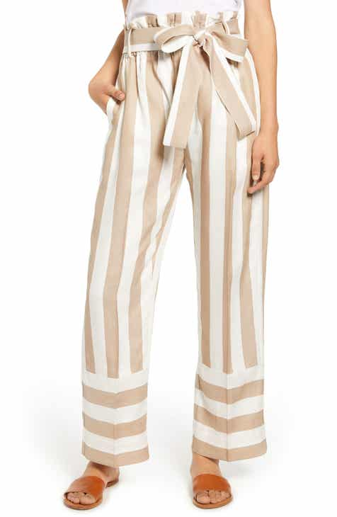 J.Crew Point Sur Stripe Paperbag Waist Pants by J.CREW
