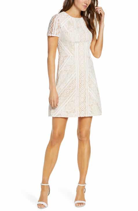 25594e5a66d0 Eliza J Lace Short Sleeve Shift Dress