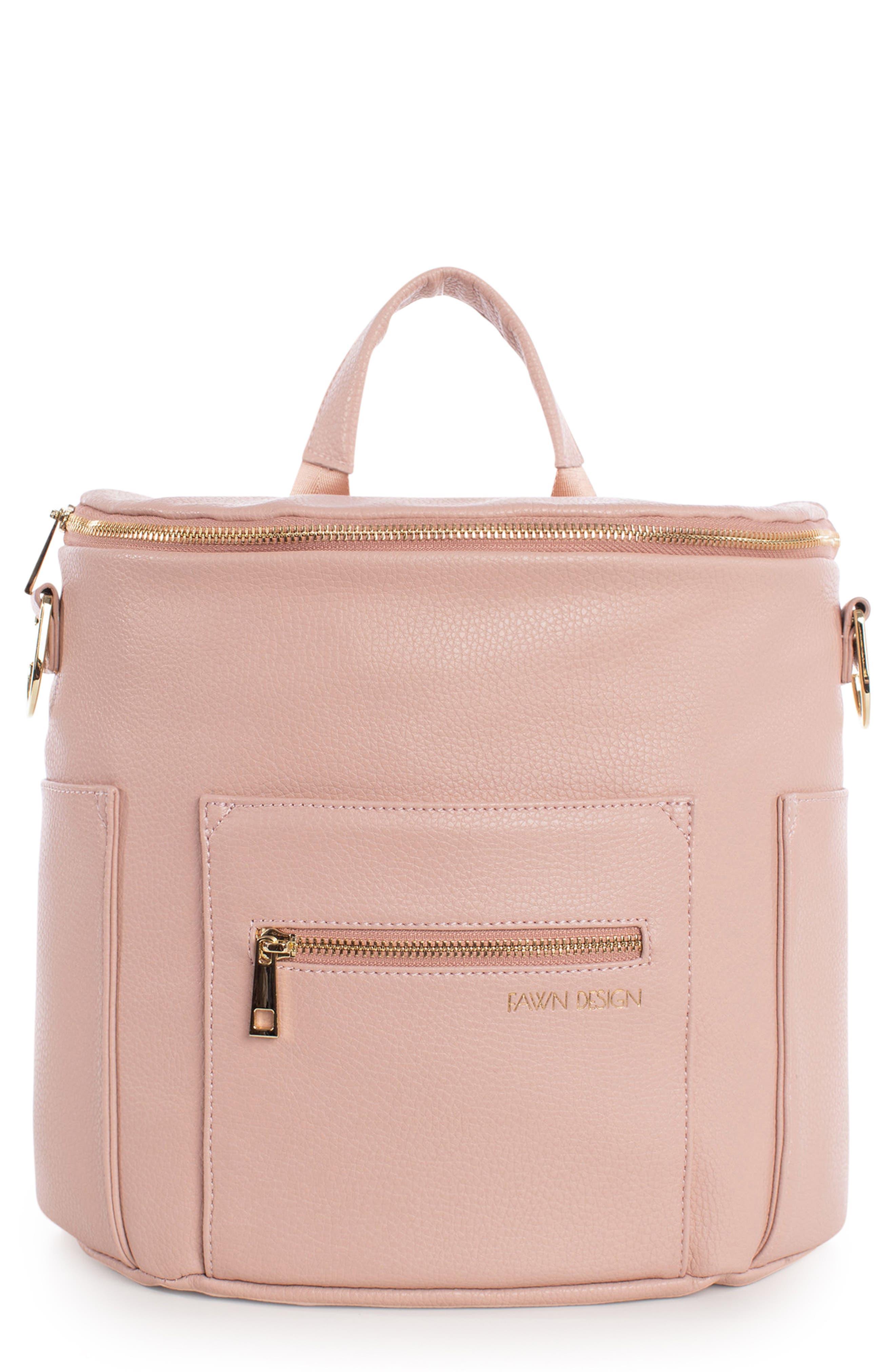 Personalised Monogram Baby Diaper Bag In Tan Vegan Leather Gift Elegant Appearance Mixed Items & Lots