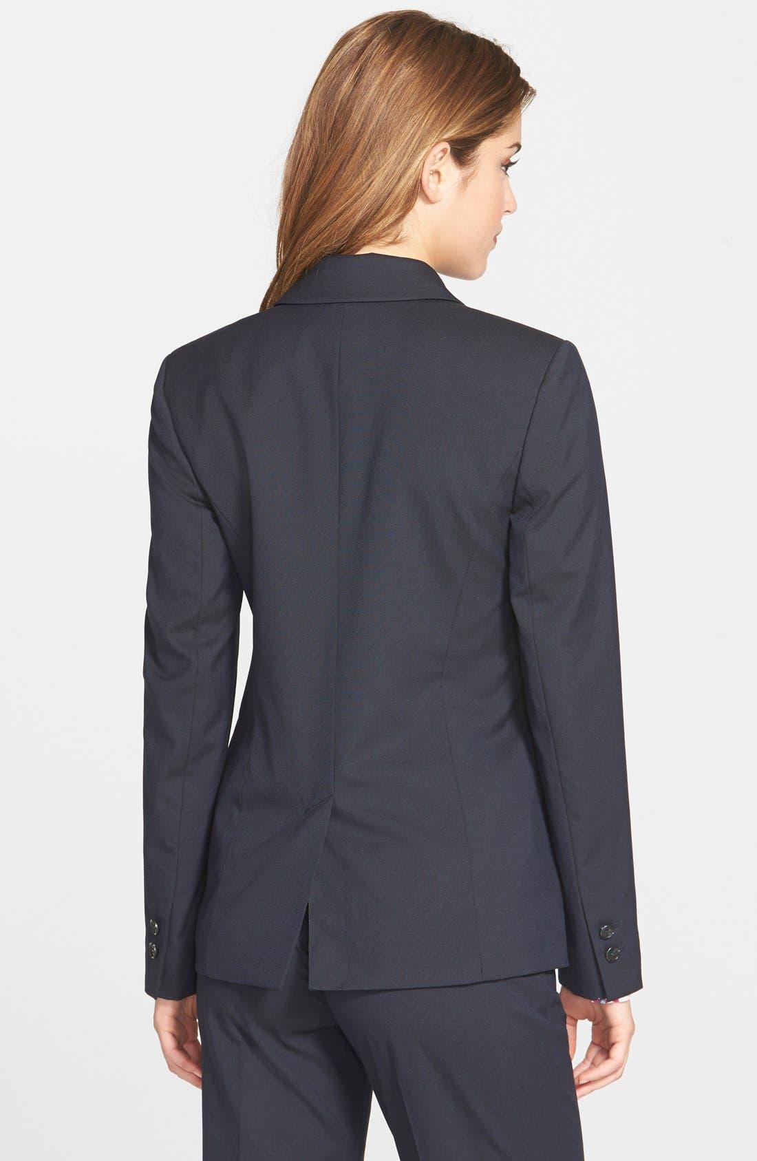 Alternate Image 2  - Halogen® Lapis Pattern Suit Jacket (Regular & Petite)