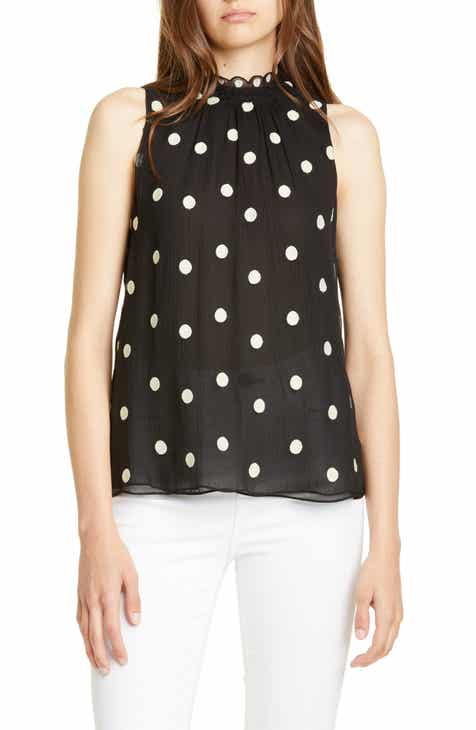 Find Rebecca Taylor Dot Embroidered Sleeveless Top Herry Up