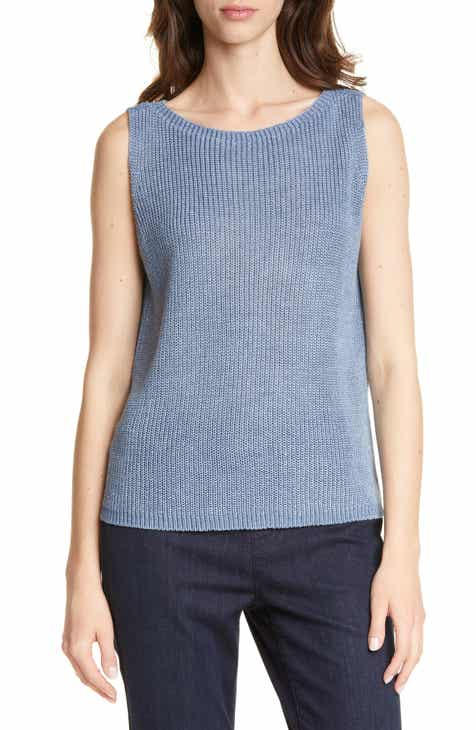 4218baa36b7 Eileen Fisher Bateau Neck Sweater Shell