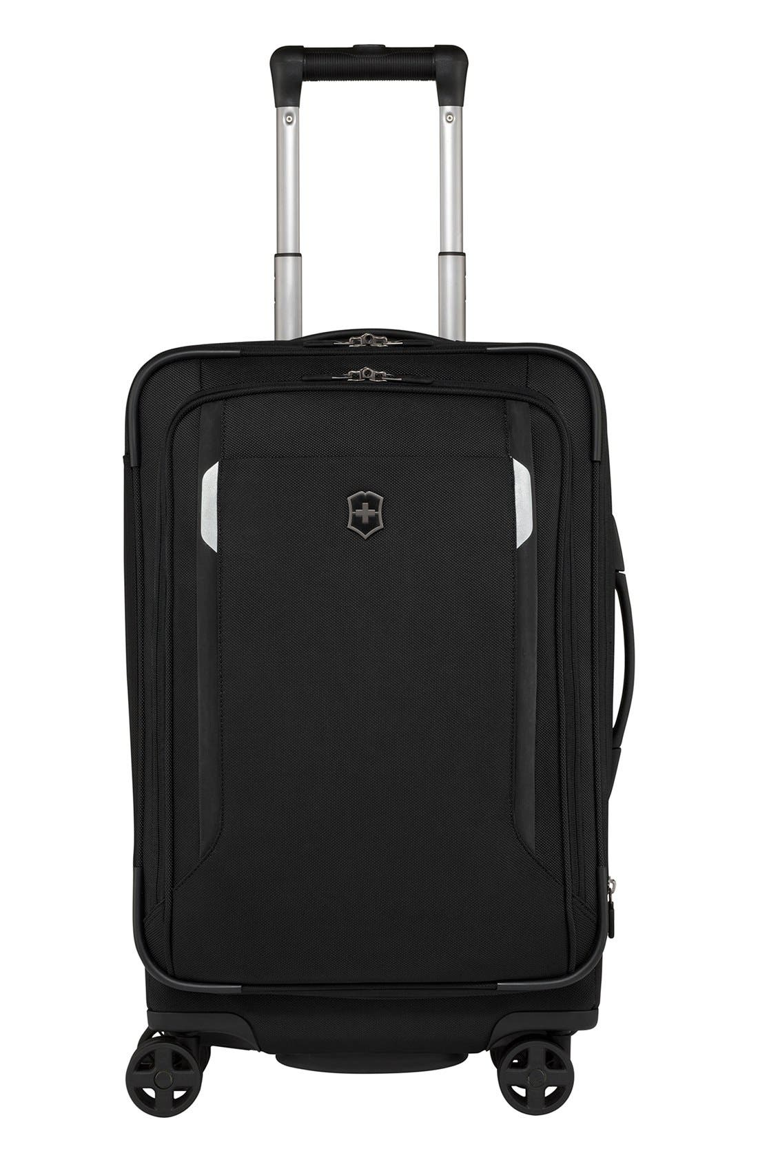 WT 5.0 Dual Caster Wheeled 22-Inch Carry-On,                             Main thumbnail 1, color,                             Black