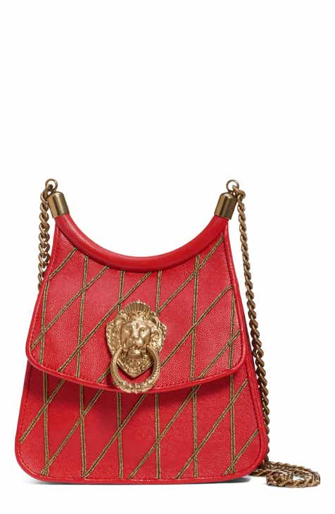 d2f1129bcd7df Moschino Roman Quilted Leather Saddle Bag