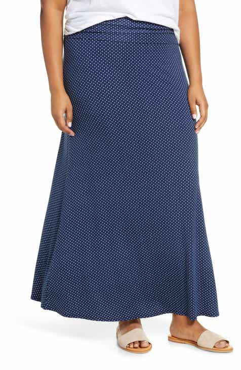 aea8240b5 Loveappella Roll Top Maxi Skirt (Plus Size)