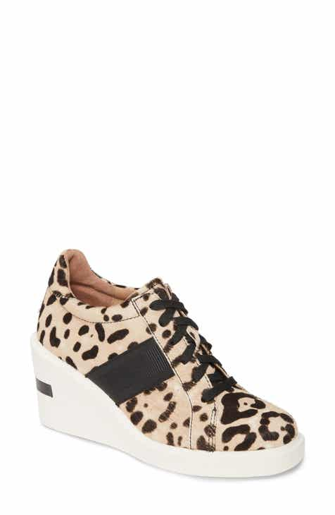 8d480244ea Linea Paolo Kandis Genuine Calf Hair Wedge Sneaker (Women)