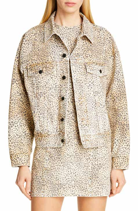 8e99084b62a1 Denim x Alexander Wang Game Cheetah Print Denim Jacket