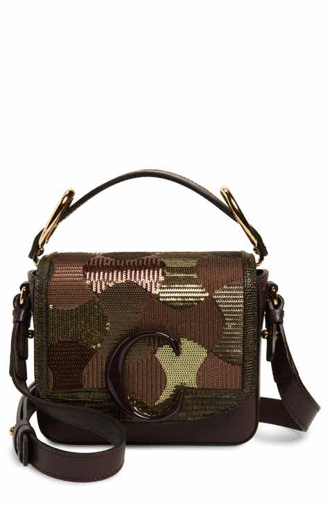 c05ac78e36 Chloé Mini C Sequin Camo Leather Shoulder Bag