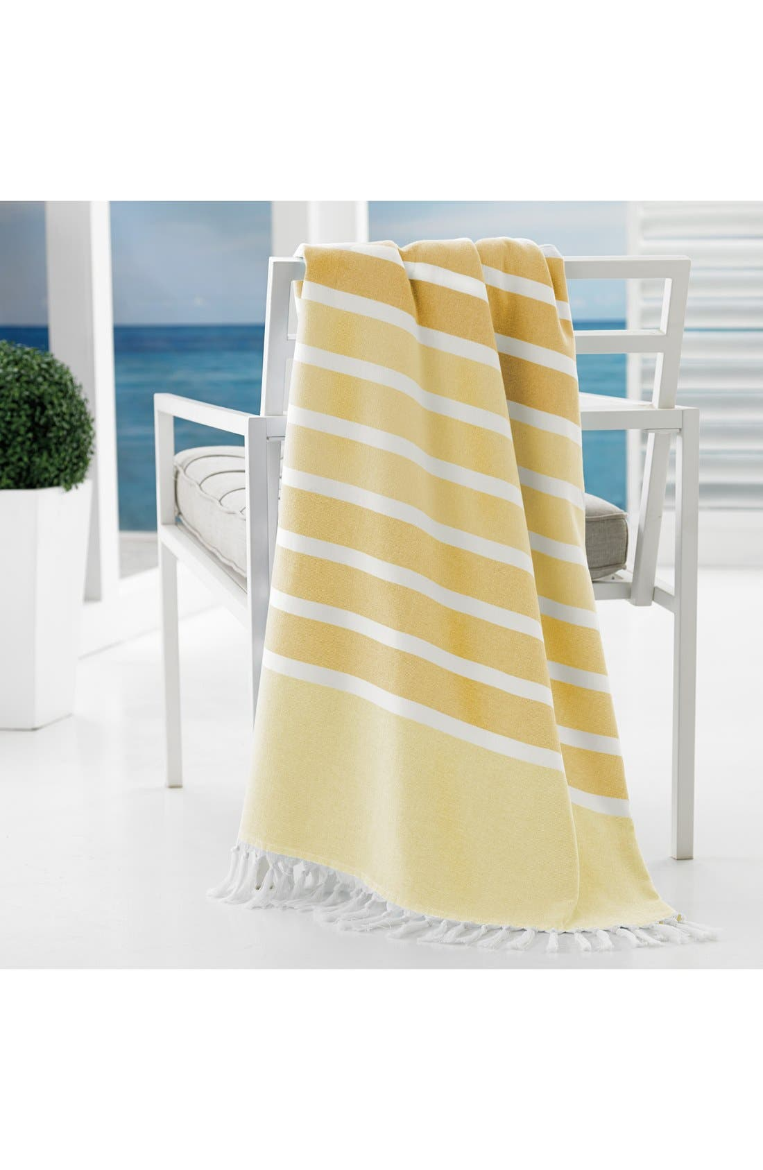 'Bodrum' Cotton Beach Towel,                             Alternate thumbnail 2, color,                             Yellow
