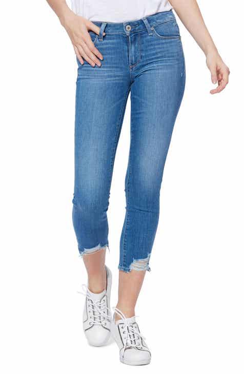 PAIGE Skyline Eroded Hem Crop Skinny Jeans (North Star)