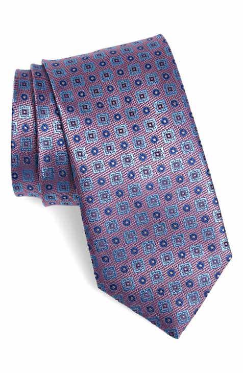 81e7f4d828bd Canali Geometric Silk X-Long Tie