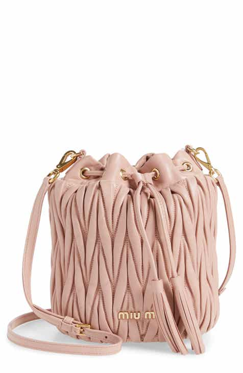 fd2d5f668 Miu Miu Small Matelassé Leather Bucket Bag